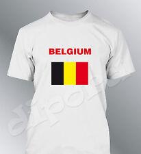 Tee shirt BELGIQUE supporter foot homme football drapeau belgium flag euro monde