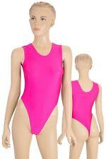 Gymnastik Stringbody Damen String ohne Ärmel stretch shiny elastisch glänzend