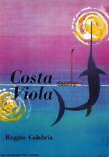 83855 Vintage 1960 Costa Viola Calabria Italian Italy Decor WALL PRINT POSTER CA