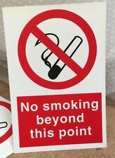 Señal de prohibición-no fumar más allá de este punto - 300x200mm signos de seguridad