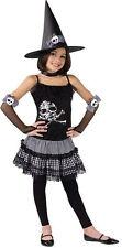 NUEVO DIVERTIDO NIÑA Punk Bruja calavera disfraz Halloween Para Edades 7-12