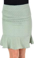 Cute Polka Dots Fifties RUFFLE Pencil Skirt/matita verde gonna Rockabilly