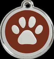 médaille chien ou chat red dingo empreinte de pattes 3 tailles 11 couleurs
