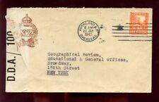 NEW ZEALAND 1945 WW2 CENSOR COVER...CROWN NZ...to USA