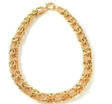 "18"" Bold Technibond Byzantine Chain Necklace 14K Yellow Gold Clad 925 Silver 50g"
