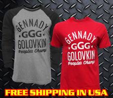 GGG Raglan T-shirt, Grey,Red,Black, Boxing, Gennady Golovkin, Champion