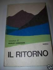 MANLIO CANCOGNI-IL RITORNO-RIZZOLI-1971