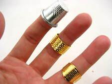 Dedal De Costura Quilting Metal Dedal Anillo Simple hágalo usted mismo Craft protector de dedo de