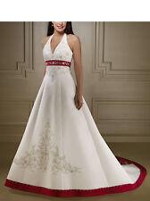 Abito da sposa Bianco e Rosso - Wedding dress White and Red - Impero - 00115B