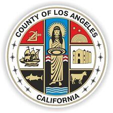 1x Adesivo Los Angeles County GUARNIZIONE CALIFORNIA PARAURTI 04