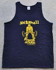 Pitbull Powerhouse Sleeveless Muscle Gym Tank Top Shirt Navy / Gold NEW M L XL