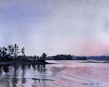 Giclee PRINT Landscape Lake Murray SC Painting Art Sunset pond zen nature trees