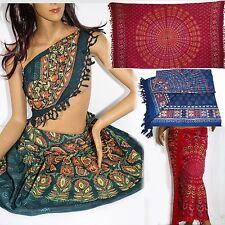 Sarong Foulard Serviette de plage dekotuch pareo coton jupe plissée nappe