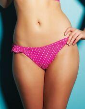 Freya Pier Classic Bikini Brief Frill Pink White Spot Polka Dot 3022 Size XS NEW