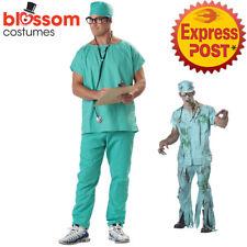 CA206 Dr Scrubs Lab Surgeon Hospital Medical Mens Hospital Costume + Stethoscope