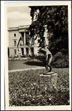 Markkleeberg ~1954 DDR Postkarte Landwirtschafts Gartenbau Ausstellung Statue