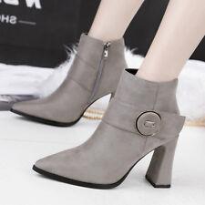 stivali stivaletti bassi scarpe stiletto 9 cm grigio  eleganti simil pelle 9607