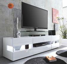 "tv-table Lowboard blanc brillant 170 cm tv-hifi-möbel Table de Télévision 65 """