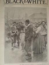 La Francia Esercito in stand by in LENTE contro i lavoratori disordini 1906 Old print