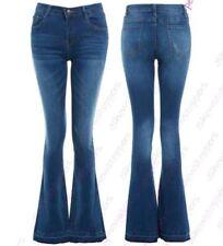 femmes Slim Fit Jean évasé évasé JEANS jeans bootcut taille 6 8 10 12 14 NEUF
