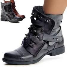 femmes travailleur BOTTES BOTTINES rivets bottes bottines bottes à lacets