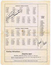 Bobby Bonds and Larry Gura Auto Signed Program