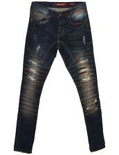 Young & Rich Jeans Uomo 3338 blu destroyed-used - da 44 a 52 - da W29 a W38