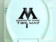 Pegatina de vinilo De Asiento De Inodoro-Ministerio de magia de esta manera-Harry Potter