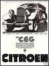 PUBBLICITA' 1931 CITROEN AC 6 G AUTO 2500 CC 45 CV. TORPEDO LAUNDLET ROADSTER
