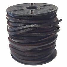 Cuero Marrón Oscuro/Cuadrado 3mm Cable de cadena de cuero joyería de encaje Thonging