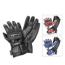 "Matador ""Carrera"" Mens Leather Motorcycle Gloves"