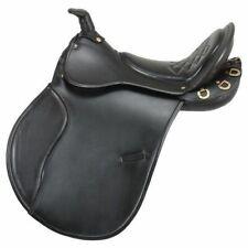 EquiRoyal Saddle English Comfort Endurance Trail Horn Padded ES7430