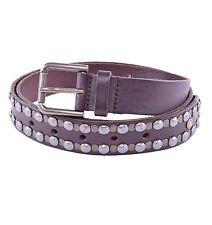 DOLCE & GABBANA Belt with Studs Dark Brown 03924