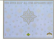 1994 UPPER DECK SHEET --BLANK AUTOGRAPH SHEET--NBA ALL-STAR SHEET