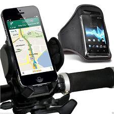 Qualité Vélo guidon Support de téléphone + Sports brassard Housse ✔ Gris