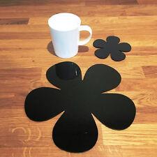 Daisy a forma di tovaglietta americana e sottobicchieri Set-Nero
