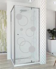 Shower Bubbles Design Window Frosting Circles Manifestation Etched Sticker