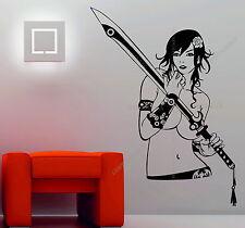 Sexy Warrior Girl Coltello Spada DECO Vinyl Wall Sticker Decal MANGA NUDO HOT