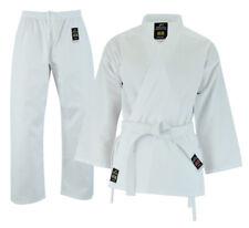 Student Karate Suit Poly-Cotton 6oz White Uniform for Kids & Men with Free Belt