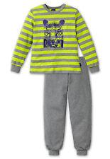 SCHIESSER Jungen Schlafanzug lang Pyjama LÖWE 100% CO Gr. 116 128 140