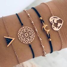Bracelet Bijoux Doré Or Argent Pendentif Anneaux Chaîne Perles Femme Enfant Ado