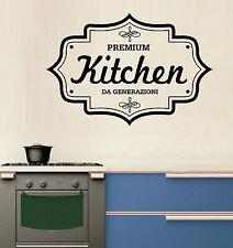WALL STICKERS MURALI Premium Kitchen cucina cibo adesivo parete famiglia frase