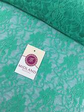 """Stretch Floral Lace Semi Transparent Dress Fabric 55"""" Wide M186-18 Mtex"""