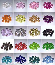 ☆ 50 Holzperlen / Perlen ☆ 10mm ☆ mit Farbwahl ☆ Material für Schnullerketten ☆