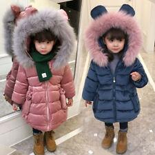 Baby Girls winter jacket coat velvet tops parka long snowsuit down Hoodies Cloth