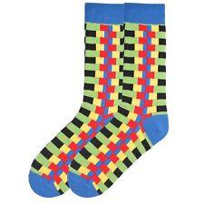 K. Bell Socks Men's Zipper Stripes Crew Sock One Size - KBMS15H016-01