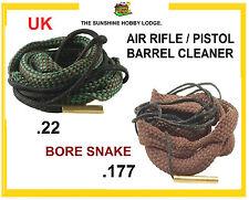Air Rifle Air Pistol Barrel Cleaner Bore Snake .177 Or .22 Caliber Boresnake New