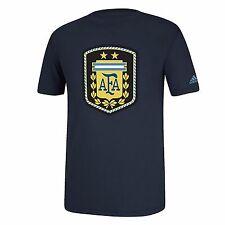 AFA Argentina National Team Men's S M L XL Graphic T-Shirt adidas Navy FIFA