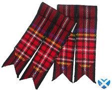 Tartan Sock Flashers NEW - Royal Stewart & Black Stewart - Durable Acrylic Wool