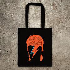 David Bowie face the strange Ziggy stardust Aladdin Sane tote bag, shopper